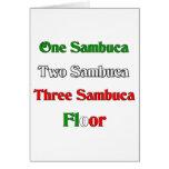 One Sambuca Greeting Card