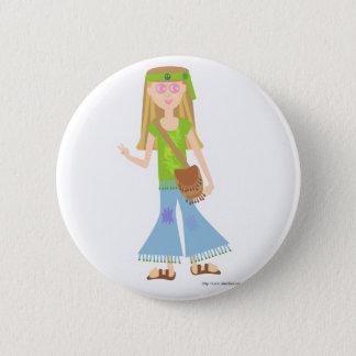 One Sassy Hippie Girl Pinback Button