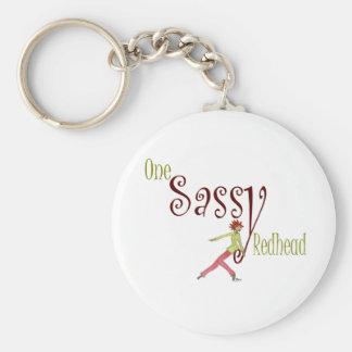 One Sassy Redhead Basic Round Button Keychain
