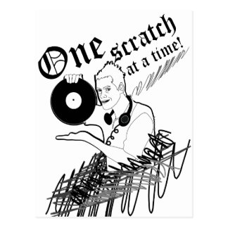 'One Scratch At A Time' Postcard
