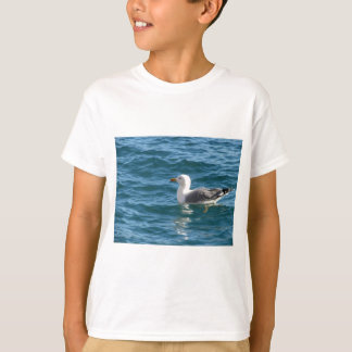 One seagull floating on the sea surface T-Shirt