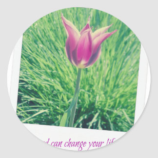 one second can change your life forever classic round sticker