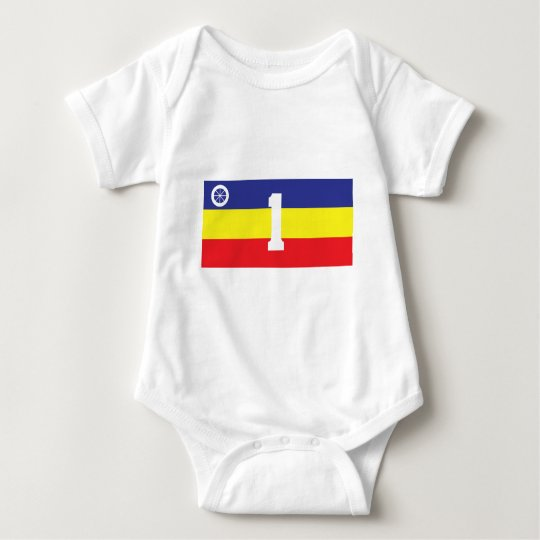 One Service Battalion Transport Company Flag Baby Bodysuit