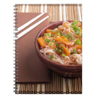 One serving of rice vermicelli hu-teu notebook