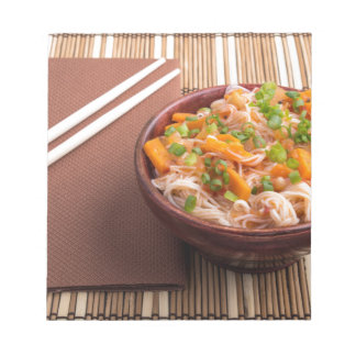 One serving of rice vermicelli hu-teu notepad