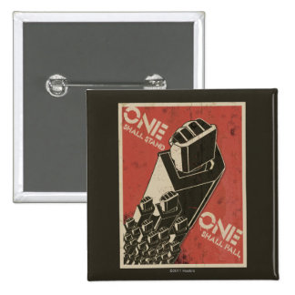 One Shall Stand (Bot Fists) 2 Inch Square Button