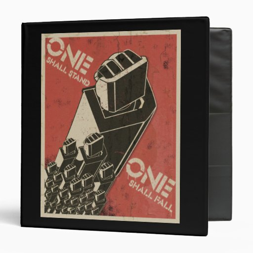 One Shall Stand (Bot Fists) 3 Ring Binders