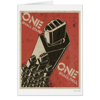 One Shall Stand (Bot Fists) Greeting Card