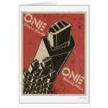 One Shall Stand (Bot Fists) Greeting Cards