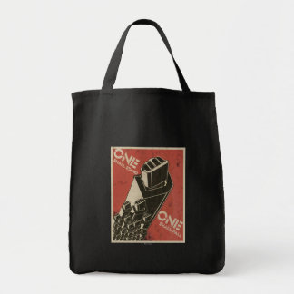 One Shall Stand (Bot Fists) Grocery Tote Bag