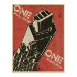 One Shall Stand (Bot Fists) Postcard