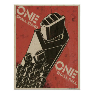 One Shall Stand (Bot Fists) Poster