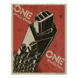 One Shall Stand (Bot Fists) Posters