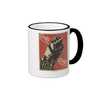 One Shall Stand (Bot Fists) Ringer Coffee Mug