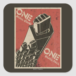 One Shall Stand (Bot Fists) Square Sticker