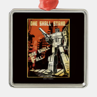 One Shall Stand (Urban) Square Metal Christmas Ornament