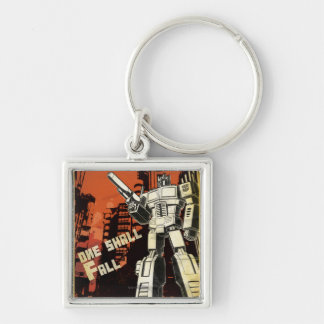 One Shall Stand (Urban) Silver-Colored Square Keychain