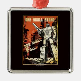 One Shall Stand (Urban) Square Metal Christmas Ornament