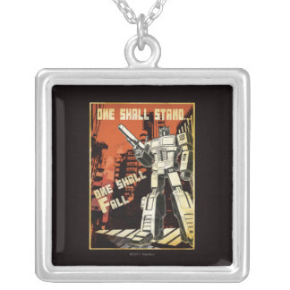 One Shall Stand (Urban) Square Pendant Necklace
