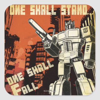 One Shall Stand (Urban) Square Sticker