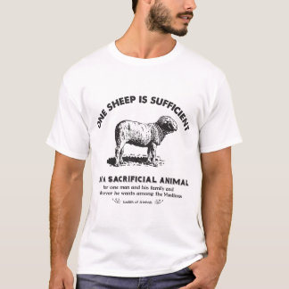 One Sheep is Sufficient White T-Shirt