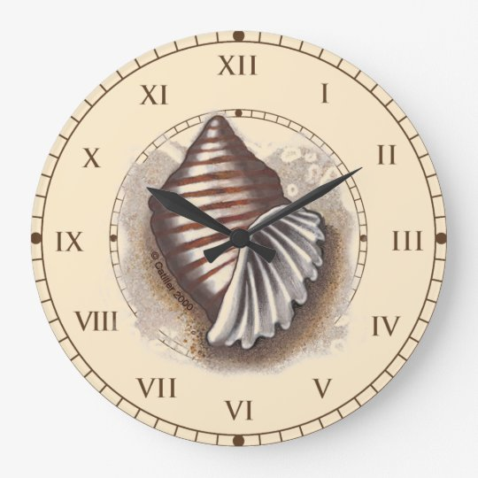 One Shell Large Clock