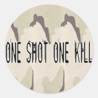One Shot One Kill Classic Round Sticker