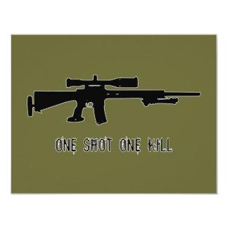 One Shot One Kill 4.25x5.5 Paper Invitation Card