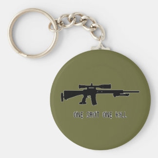 One Shot One Kill Keychain