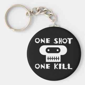 One Shot: One Kill Keychain