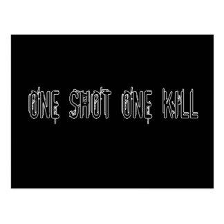 One Shot One Kill Postcard
