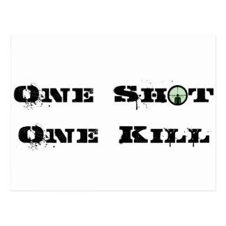 One Shot, One Kill Postcard