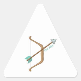 One Shot Triangle Sticker