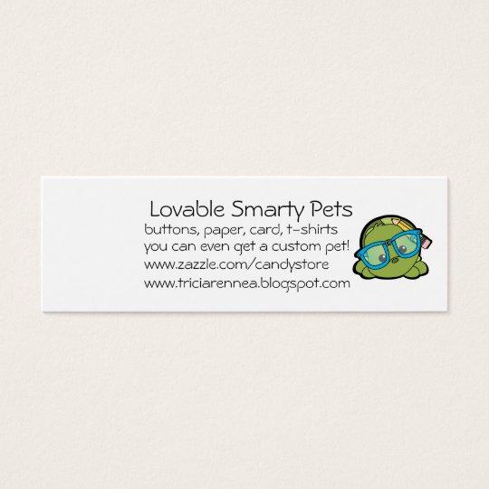 one side cute, one side sweet mini business card