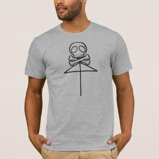 One Skull Umbrella Black T-Shirt