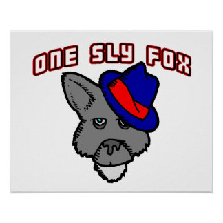 One Sly Fox So Cool Poster