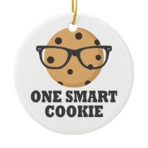 One Smart Cookie Ceramic Ornament