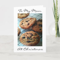 ONE SMART COOKIE MOM=MERRY CHRISTMAS HOLIDAY CARD
