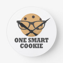 One Smart Cookie Round Clock