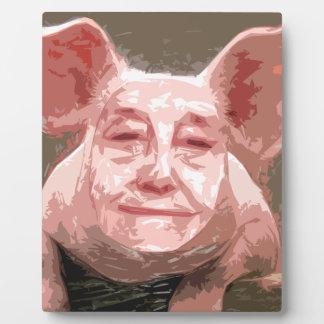 One Smart Pig Plaque