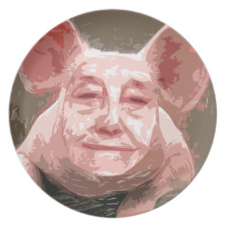 One Smart Pig Dinner Plate