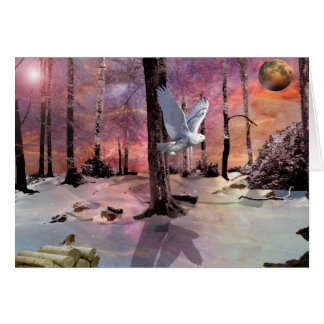 One snowy Christmas Greeting Card