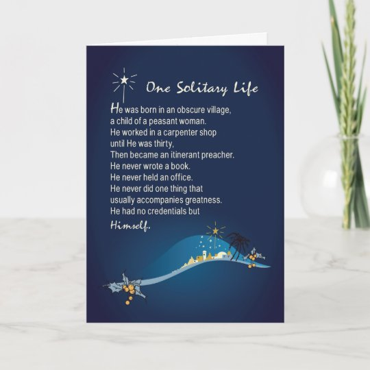 one solitary life religious christmas card dark bl - Who Wrote Blue Christmas