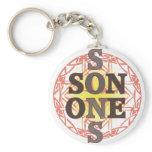 One Son Basic Round Button Keychain