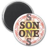 One Son Button 2 Inch Round Magnet