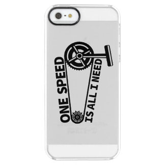 One Speed Is All I Need, single speed fixie Clear iPhone SE/5/5s Case