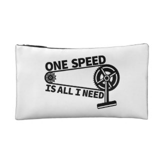 One Speed Is All I Need, single speed fixie Cosmetic Bag