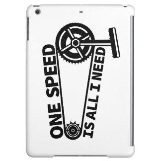 One Speed Is All I Need, single speed fixie iPad Air Case