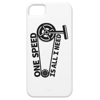 One Speed Is All I Need, single speed fixie iPhone SE/5/5s Case