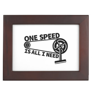 One Speed Is All I Need, single speed fixie Keepsake Box